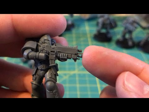 How-to short: Bore out the Bolt Rifle barrel & muzzle break for Primaris Space Marines (WH40K)