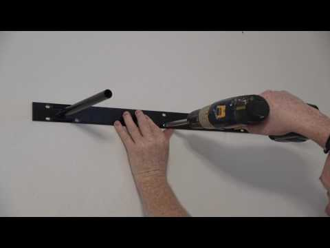 Install Floating Shelf in Concrete How to D.I.Y Hanging Shelves.