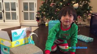 BAD KID Ryan Open Christmas Presents Early Kids Prank! Trade McDonald Foods for Toys with Santa