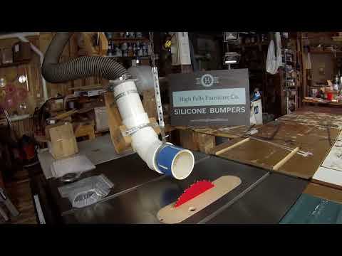 Table Saw Swing Up Dust Extractor Review Demo and Buy The Plans