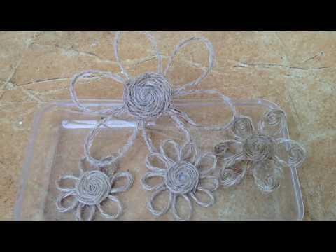 How to make Simple Decorative Twine Flower|| DIY Jute Flower