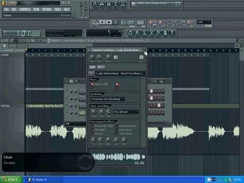 FL Studio 10 - Sync acapella to music Quick and Easy 5 mins