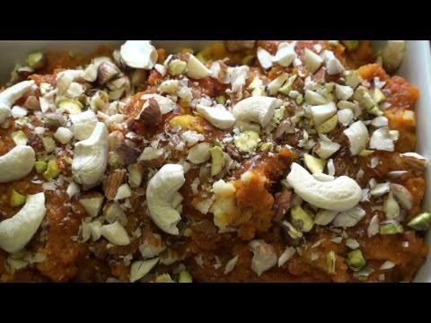 Pumpkin Halwa ( Kaddu / Kanchifal Halwa ) - Halloween Special - Indian Dessert