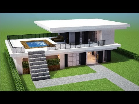 Minecraft: How to Build a Small Modern House Tutorial #13 (EASY!)