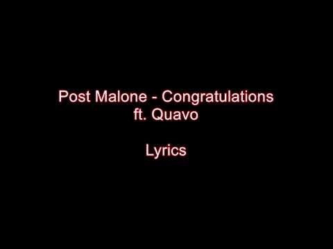 post malone - congratulations ft. quavo download lyrics
