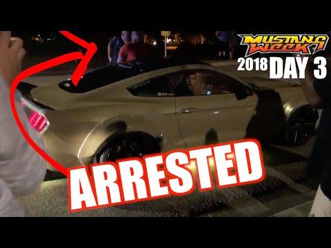 VLOG - DAY 3 MUSTANG WEEK 2018 Arrested For Doing a Burnout
