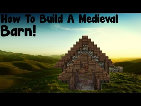 Minecraft Tutorial - How To Build A Medieval Barn