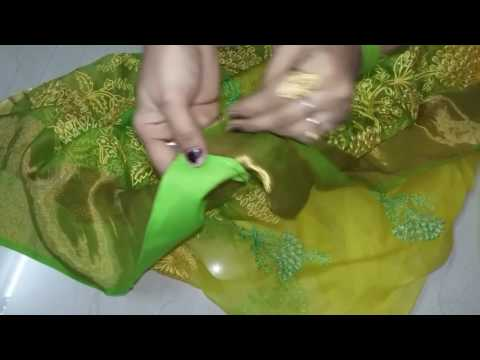 How to Stitch Saree Fall by Hand