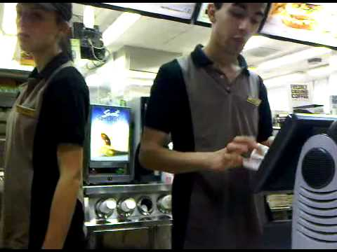 McDonald's employee can't handle the pressure of a scottish pound note