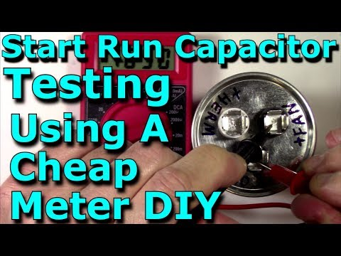 Start Run Capacitor Testing Using A Cheap Meter DIY (HVAC/Stereo/Microwave/Electronics) Service