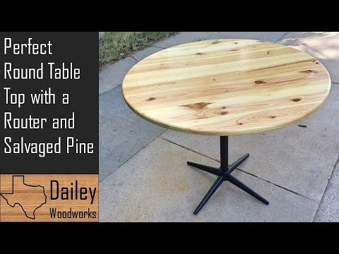 Round Breakfast Table Made from Salvaged Pine | How to Cut a Perfect Circle with a Router