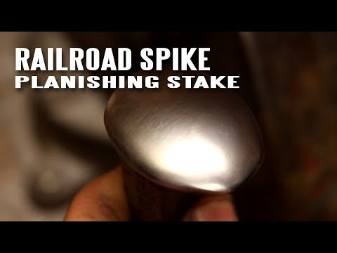 How to make a planishing stake from a railroad spike