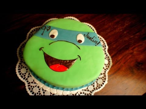 Turtles Kuchen - Teenage Mutant Ninja Turtles Torte - von Kuchenfee