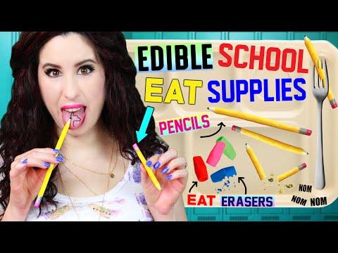 DIY Edible Pencils, Erasers & School Supplies | EAT Pencils | How To Make Back To School EATABLE!