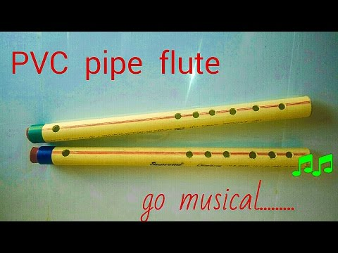 working model of sound A PVC PIPE FLUTE bansuri | science exhibition