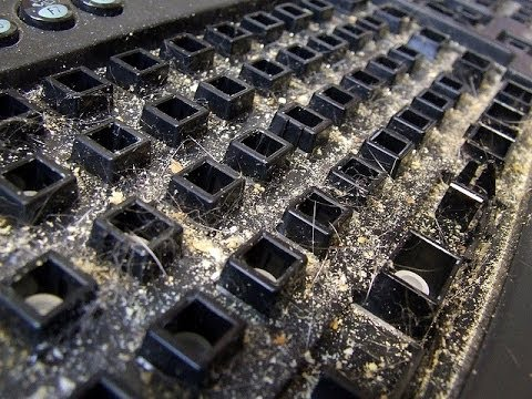 Cleaning 2 year old keyboard | Dirtiest keyboard EVER! GROSS!