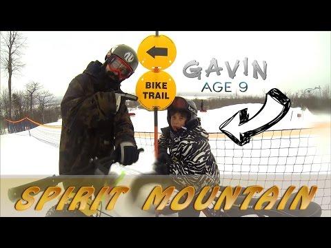 Fat Tire Biking- Spirit Mountain- 9 Years Old