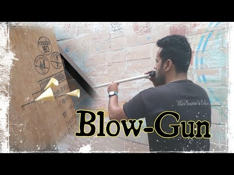 How To Make Powerful Blow Gun From Old PVC pipe !!! [DIY]
