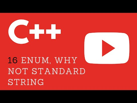 16. C++ Enum Example 2 or why not Standard String Array