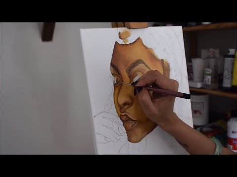 How to Paint A Portrait In Oil Demo| How To Paint Skin Tones Tutorial | Jasvir Kambo