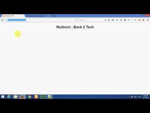 Ways to redirect in PHP, Javascript and HTML - English