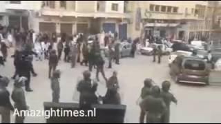 Arif: Marokkanse Politie grijpt hard in bij demonstratie in Tanger 24-02-2017