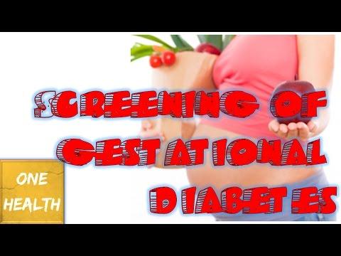 Screening of gestational diabetes - One Health