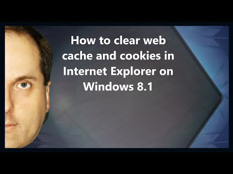 How to clear web cache and cookies in Internet Explorer on Windows 8.1