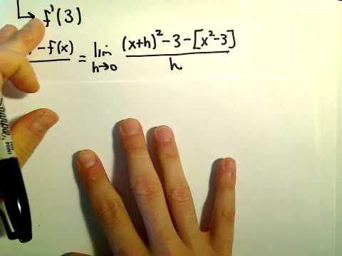 Equation of Tangent Line Using Definition of Derivative