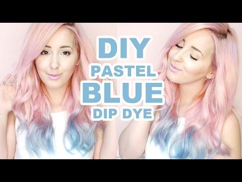 How To: Pastel Blue Dip Dye Tutorial! | by tashaleelyn