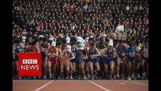 North Korea: Runners take part in Pyongyang