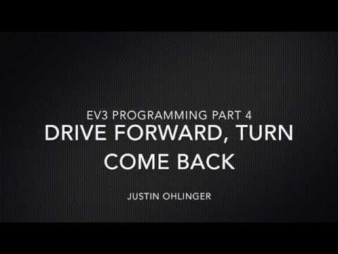 EV3 Programming #4 - Drive forward, turn, come back