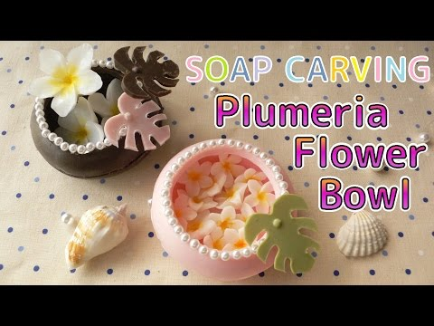 SOAP CARVING | Easy | Plumeria Flower Bowl | How to make |