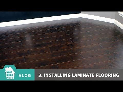 Installing Laminate Flooring - Vlog #3