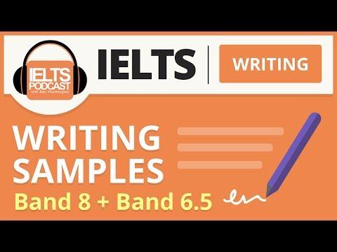 IELTS Writing Samples: Band 8 and Band 6.5