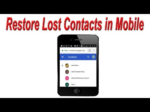 How to Recover Deleted Contacts from Android Phone   Restore Lost Contacts in Mobile