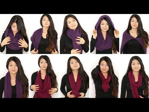10 Ways to Wear an Infinity/ Circle Scarf   Eva Chung