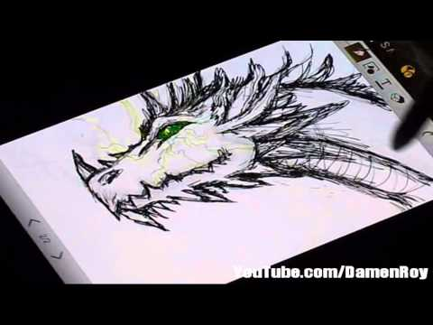 Galaxy Note 2 Sketch Compilation - 15mins of Music and Art