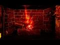 DIY electric firelog using bulb n cardboard easy|faux fireplace