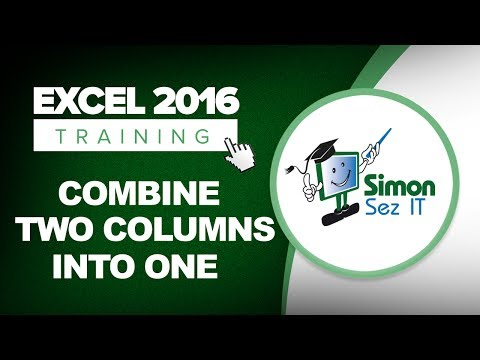 How to Merge 2 Columns in Excel 2016 Using the Concatenate Function