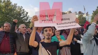 Mitinqdən özəl görüntülər VİDEO