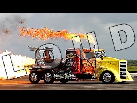 {TrueSound}™ INSANELY LOUD 376-mph Shockwave Jet Truck at Wings Over Homestead 2016