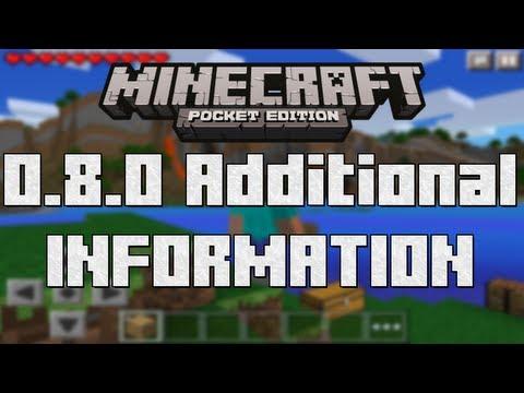 MCPE 0.8.0 Smooth Lighting Info - Minecraft PE (Pocket Edition) 0.8.0 Update Video