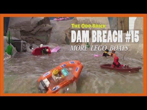 LEGO Dam Breach # 15  - More LEGO Boats!