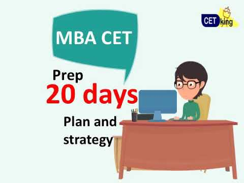 20 days to MBA CET 2018. Strategy and day by day study plan