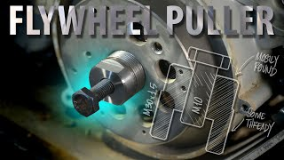 EASY Flywheel Puller... using ONLY industrial lathe and milling machine!!!