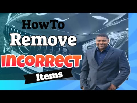 HowTo Remove Incorrect Items On Your Credit Report