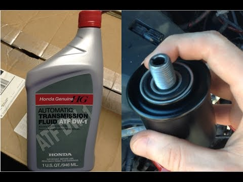 How to Replace your Transmission Filter and Automatic Transmission Fluid - 2002 Acura TL-S