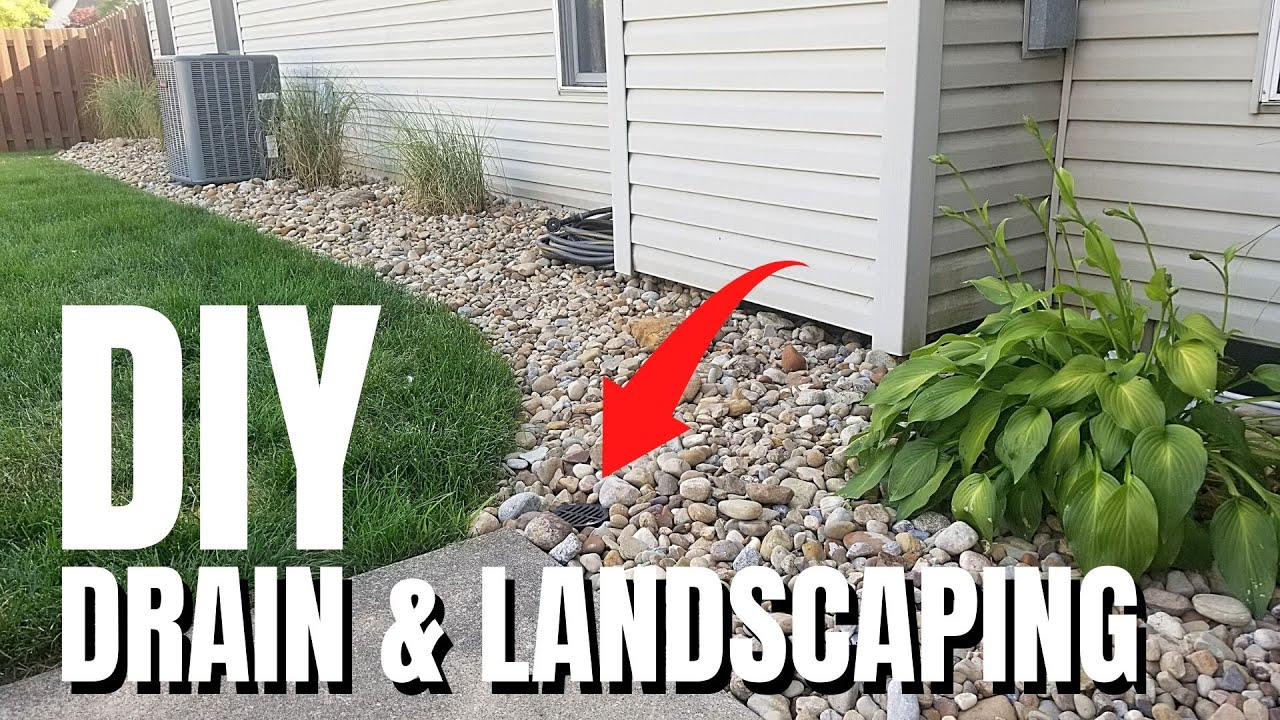 DIY French Drain & Landscaping | River Rock | Yard Drainage Solution