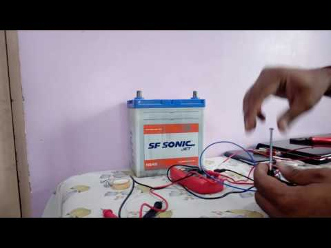 CHARGING CAR BATTERY WITH LAPTOP CHARGER (HINDI).